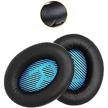[Patrocinado] almohadillas para orejas de repuesto para auriculares Bose QuietComfort 2152535oreja cojín para QC2QC15QC25qc35AE 22I 2W con suave piel de proteínas de diadema almohadillas para orejas estilo 2