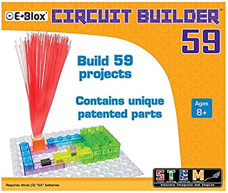 Amazon.com: E-Blox Circuit Builder 59 Building Set: Toys & Games