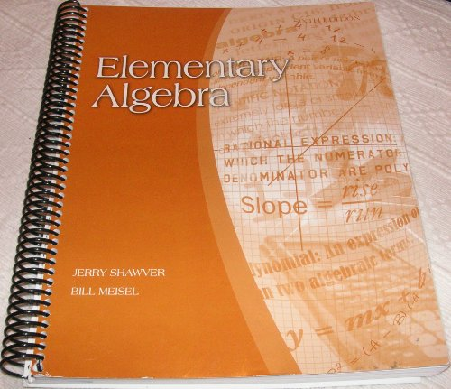 Elementary Algebra, 6th Edition