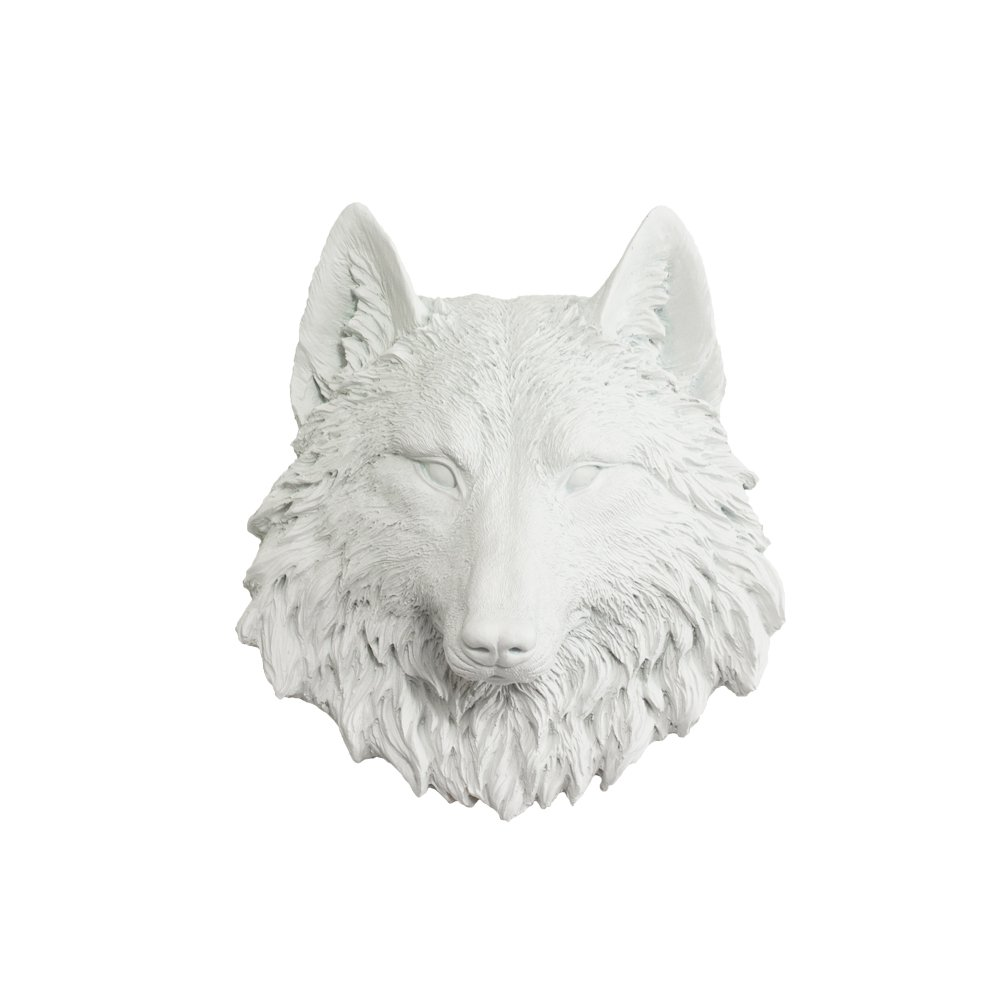 Wall Charmers Mini Faux Wolf Head | The Sierra Room Decor Wall Art| Hand Finished Home Decor, Farmhouse Decor, Bedroom Decor, Bathroom Decor, Office Decor, Rustic Wall Decor Rustic Home Decor Accents