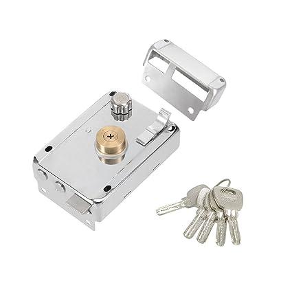 LDEXIN Home Safety Vertical Keyway Cylinder Deadbolt Rim Lock Set Exterior  Door Anti Theft Door