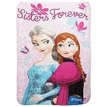 Disney Frozen Childrens Girls Sisters Forever Fleece Blanket (One Size) (Pink)