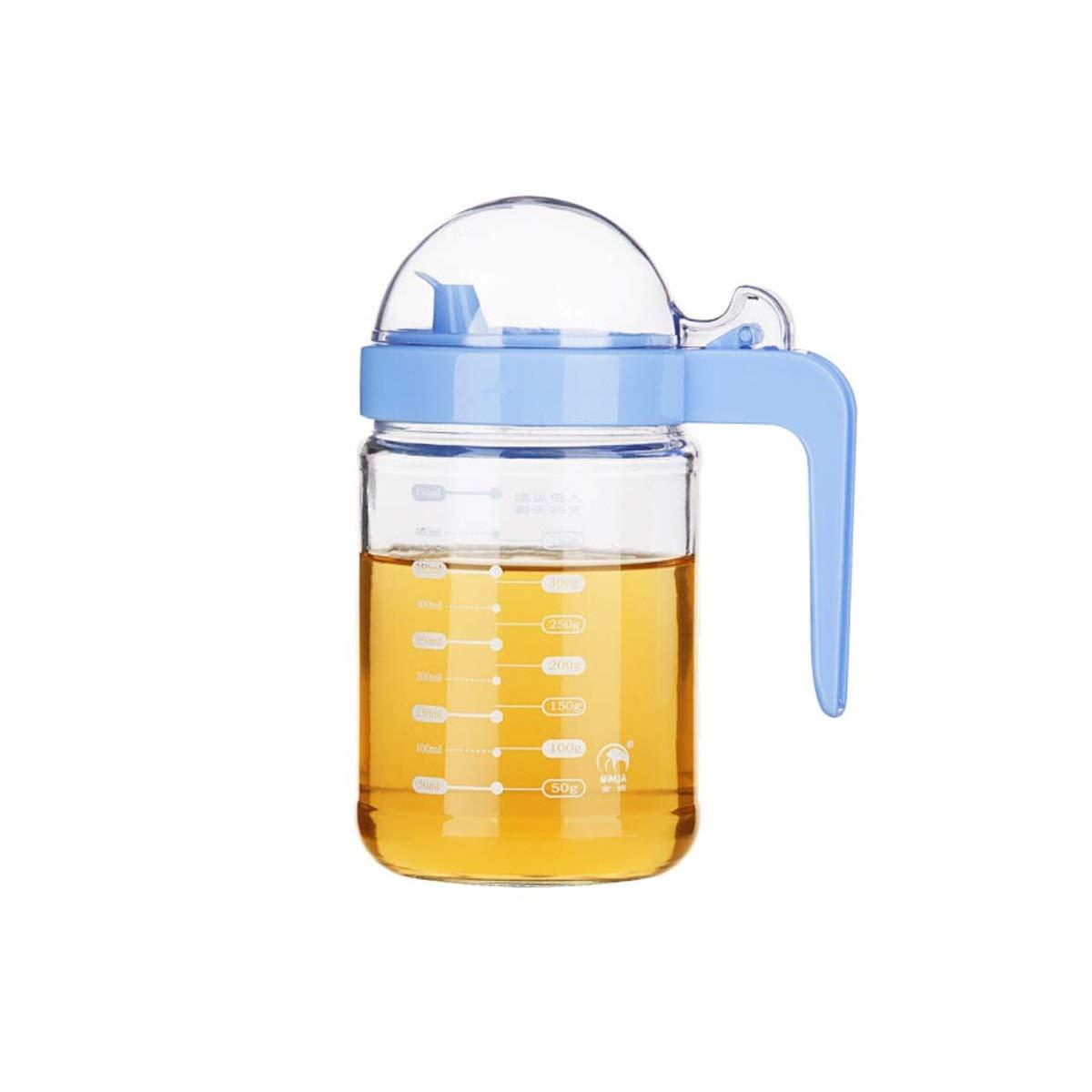 WENPINHUI 500ML leakproof glass oil pot seasoning jar soy sauce vinegar bottle (Capacity : 500ml) by WENPINHUI
