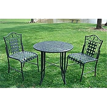 Green Wrought Iron Patio Furniture. Fine Wrought Mandalay Wrought Iron Patio  Bistro Set Inside Green