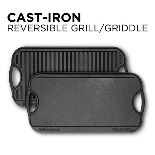 """Westinghouse WFL2010RG Select Series Seasonsed Cast Iron 20"""" X 10"""" Grill/Griddle"""