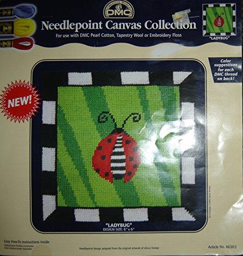 "Creative World DMC Needlepoint Canvas Collection ""Ladybug"""