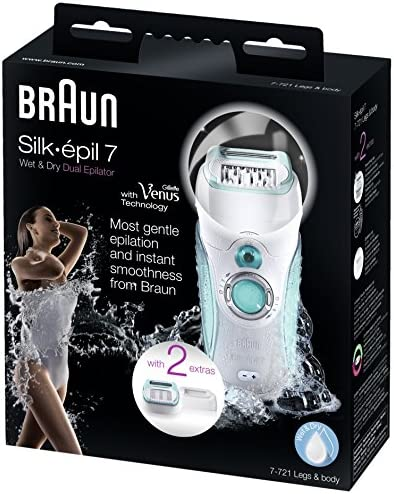 Braun Silk-épil 7 Dual - Depiladora, 40 pinzas, recargable, color ...