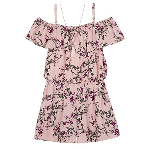 235ae225621 Amy Byer Girls  Big Shoulder Ruffle Front Romper