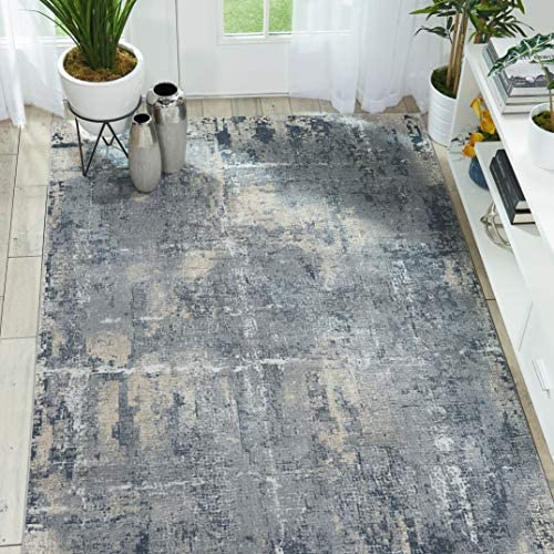 Nourison Rustic Textures Grey Beige Area Rug 9 3 x 12 9 X12 9