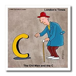 ht_2184_2 Londons Times Funny Music Cartoons - Old Man And The C -With Apologies To E. Hemmingway- - Iron on Heat Transfers - 6x6 Iron on Heat Transfer for White Material