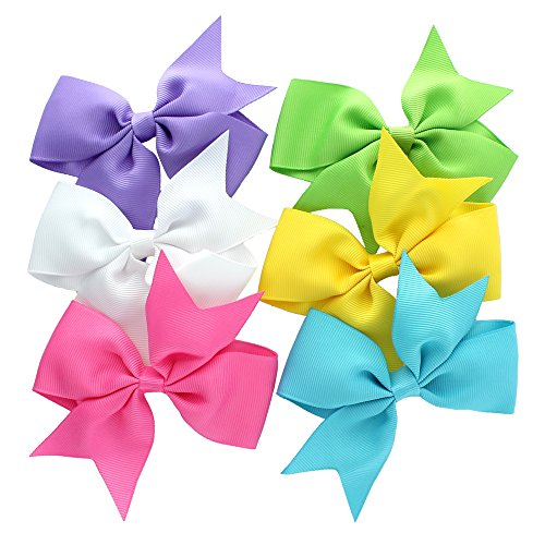 my-lello-medium-4-girls-split-tails-boutique-grosgrain-hair-bow-mixed-variety-6-pack-bright-shades