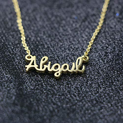 5e5358ac6 Awegift Personalized Name Necklace 18K Gold Plated New Mom Bridesmaid Gift  Jewelry for Women