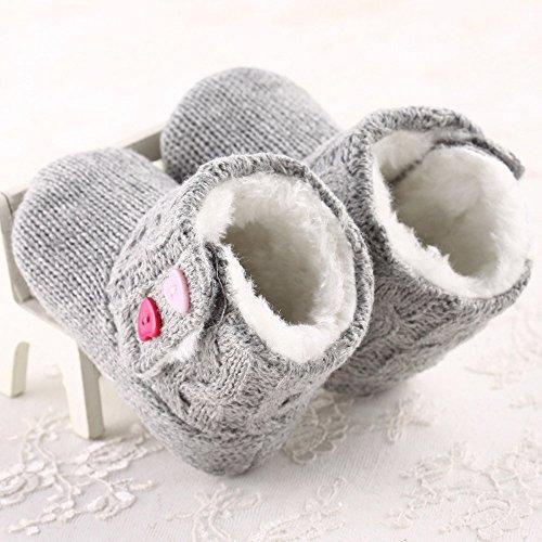 Gris Bebe Niña Invierno De Zapatos Fossen Botas Cálidas Algodón Nieve xnEqz