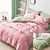ZZY Fresh Cotton Printing Bed Four Sets of Cotton Simple Quilt Cover Bed 1.8m Bed 1.5M Bed Does not Fade (Color : A, Size : 1.5m)