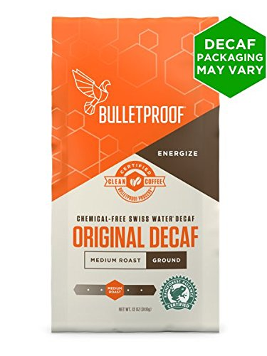 Bullet Swiss (Bulletproof, Coffee The Original Decaffeinated Ground, 12 Ounce)