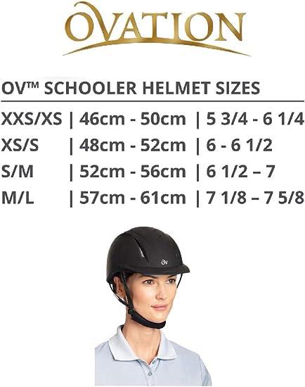 Amazon Com English Riding Supply Inc English Riding Supply Ovation Deluxe Schooler Helmet Blue L Xl Sports Outdoors