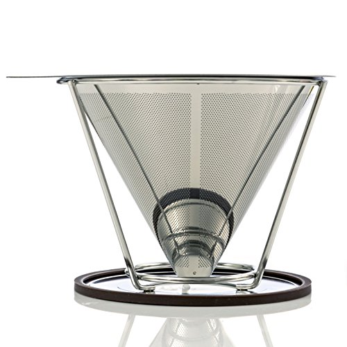 Stainless Steel Pour Over Coffee Filter Permanent & Reusable Coffee Maker Paperless Dripper ...