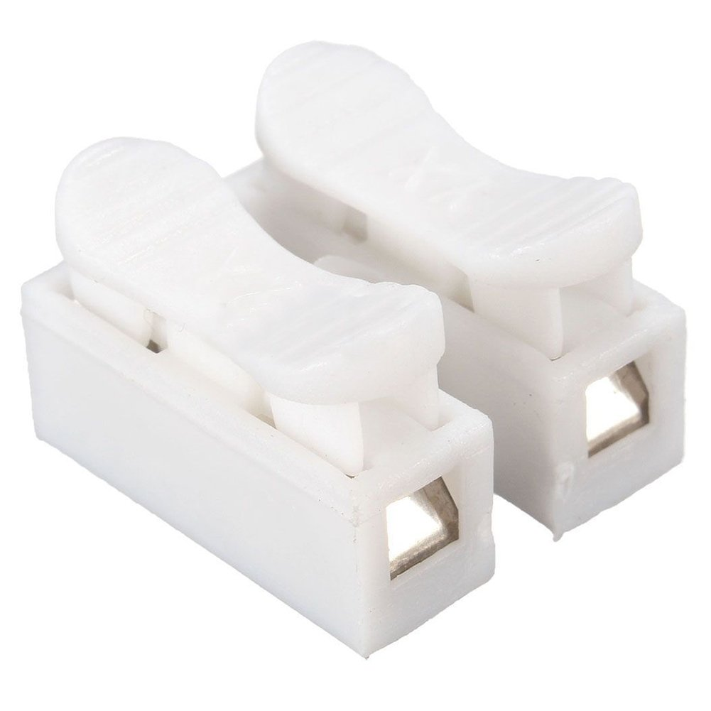 SODIAL(R) 2x 2P Spring Connector Wire Clamp Terminal Block No Welding For LED Strip