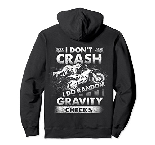 Unisex I Do Random Gravity Checks Motocross Gift Dirt bike Hoodie Large - Moto Check