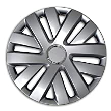 TuningPros WSC2-062S16 Hubcaps Wheel Skin Cover Type 2 16-Inches Silver Set of 4