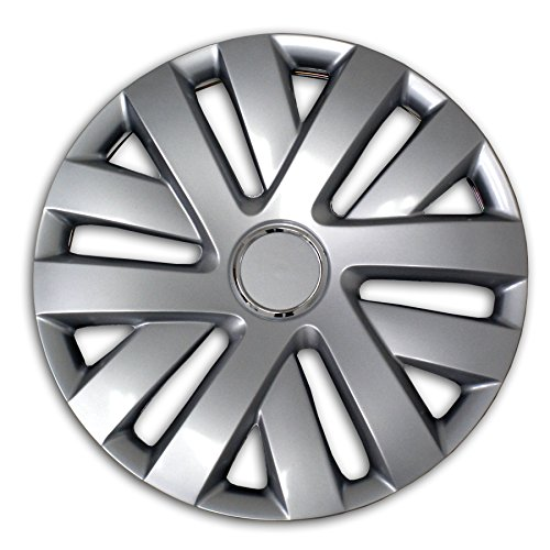 TuningPros WSC2-062S16 Hubcaps Wheel Skin Cover Type 2 16-Inches Silver Set of 4 (Hubcaps 2007 Nissan Altima compare prices)