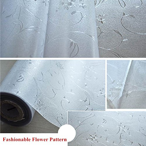Mikomer Privacy Window Film Wheat Static Cling Glass Door Film, Non Adhesive Window Cling/Removable/Heat Control/Anti UV for Office and Home Decoration,17.5In. by 78.7In. by Mikomer (Image #7)