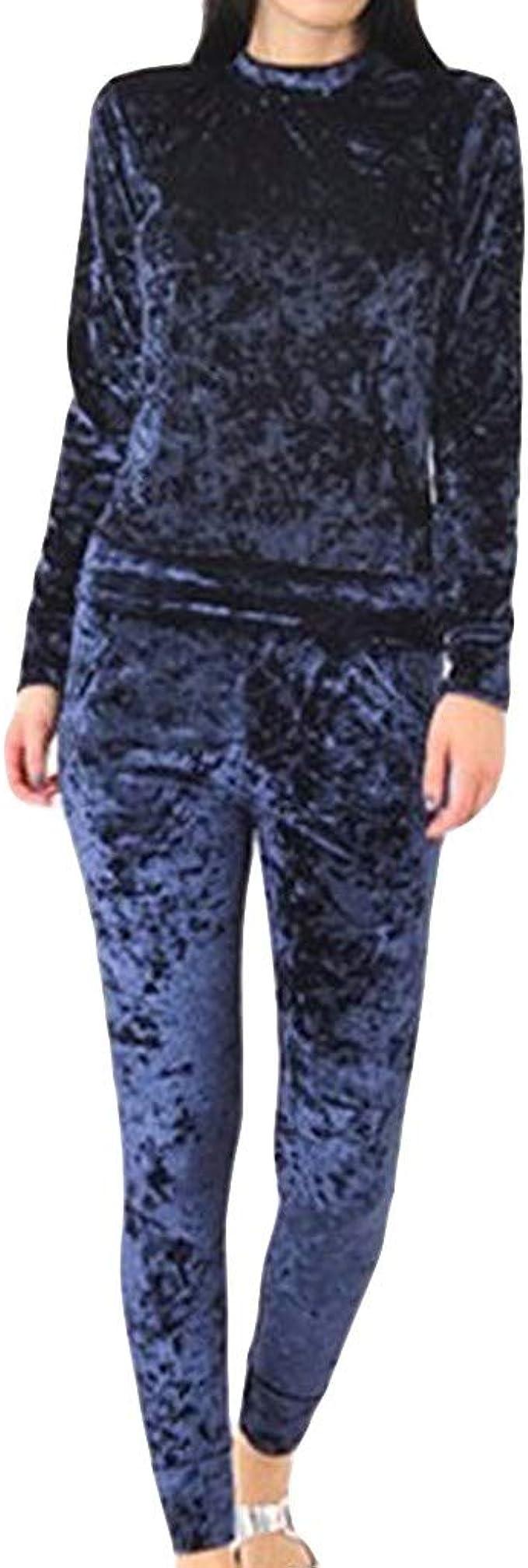 Elecenty Chándales para Mujer, Conjuntos térmicos Mujer Casual Camisetas de Fitnes Sweatshirt Pijamas Pantalones Ropa de Dormir Conjunto: Amazon.es: Ropa y accesorios