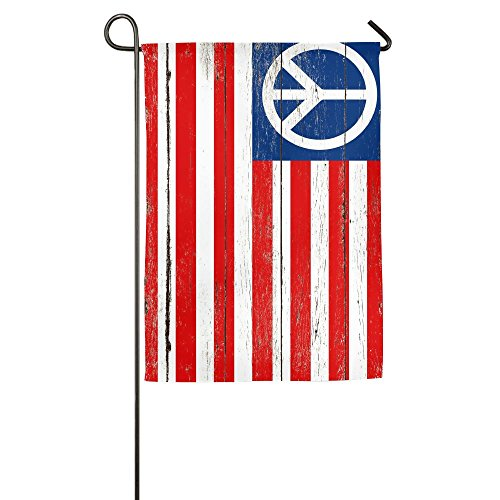 Peace Sign American Military Flag Welcome Garden Flag Yard F