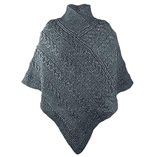 100% Irish Merino Ladies Aran Knit Poncho by West End Knitwear - Poncho Irish