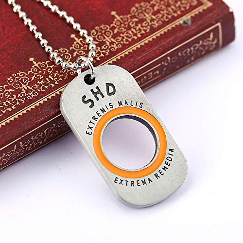 Value-Smart-Toys - H&F Xbox PS4 Game Tom Clancy's The Division Dog Tag male Necklace for game TCTD SHD fans Collier femme Pingente Masculino