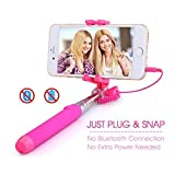 Mpow Selfie Stick Extendable Mini Monopod with 3.5mm Wire Connecting for iPhone 6s/6 Plus,Nexus 6P, LG G5 and Other Android & iOS Smartphone.