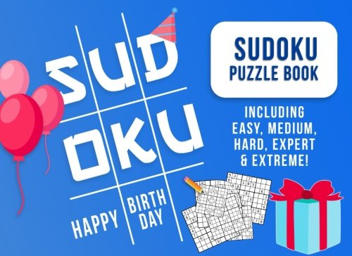 Birthday Gifts for Men: Sudoku Puzzle Book Gift as Birthday Gifts for Dad, Boyfriend, or Husband (Man Birthday Gifts)