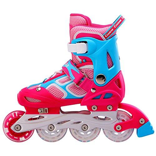 ビジネス争い平野Petit Bella(プティ?ベッラ) インラインスケート ローラースケート 子供用 キッズ ジュニア 光るウィール 発光 サイズ調整可能 初心者向け ローラーシューズ