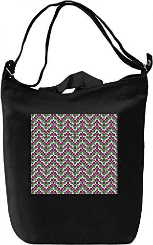 Folk Motifs Pattern Borsa Giornaliera Canvas Canvas Day Bag  100% Premium Cotton Canvas  DTG Printing 