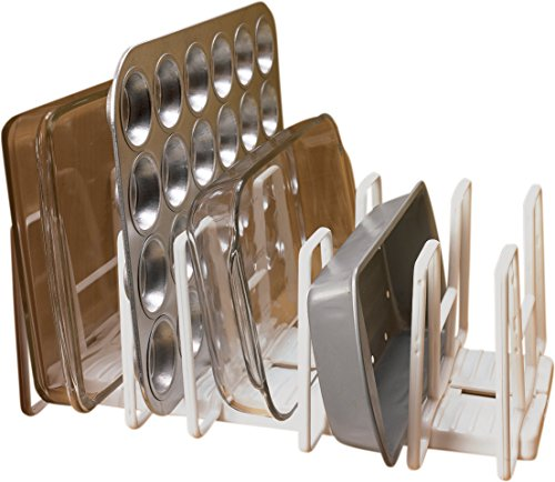 Miles kimball adjustable bakeware organizer kitchen in for Kitchen cabinets jeddah