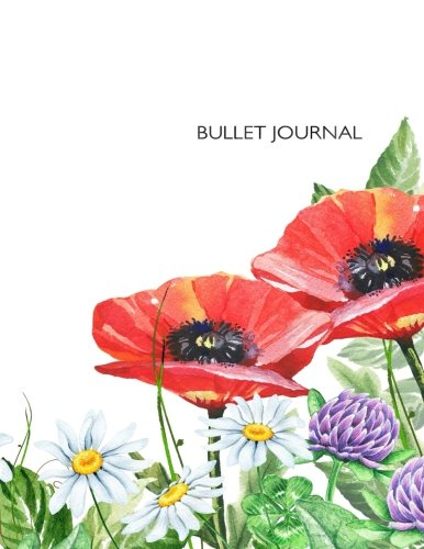 """Read Online Bullet Journal: Spacious 8.5""""x11"""" dot grid journal with floral clover cover, 164 pages, quarter-inch grid 40% gray 1 pt dots on white paper, perfect ... free writing, or any kind of studying. PDF"""