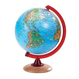 Illuminated Pictorial Globe with Wood Base