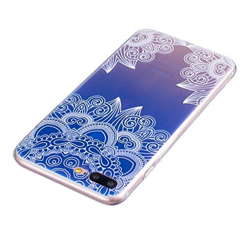 """Coque iPhone 7 Plus, IJIA Ultra-mince Transparent Lis Papillon TPU Doux Silicone Bumper Case Cover Shell Housse Etui pour Apple iPhone 7 Plus (5.5"""") + 24K Or Autocollant"""