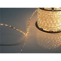PYSICAL® 110V 2-Wire Waterproof LED Rope Light Kit for Background Lighting,Decorative Lighting,Outdoor Decorative Lighting,Christmas Lighting,Trees,Bridges,Eaves (100ft/30M, Warm White)
