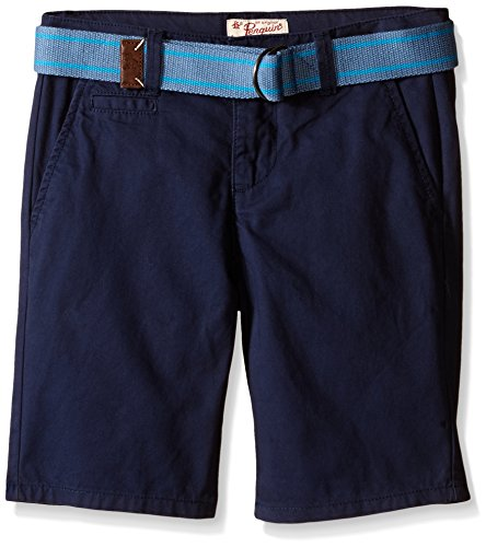 Penguin Belted Belt (Penguin Big Boys Belted Flat Front P55 Short, Dress Blues,)