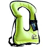 Rrtizan Unisex Adult Portable Inflatable Canvas Life Jacket Snorkel Vest