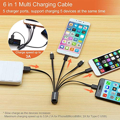 Multi Quick USB Charging Cable,Vintage French Hot Air Balloon 2 in1 Fast Charger Cord Connector High Speed Durable Charging Cord Compatible with iPhone//Tablets//Samsung Galaxy//iPad and More