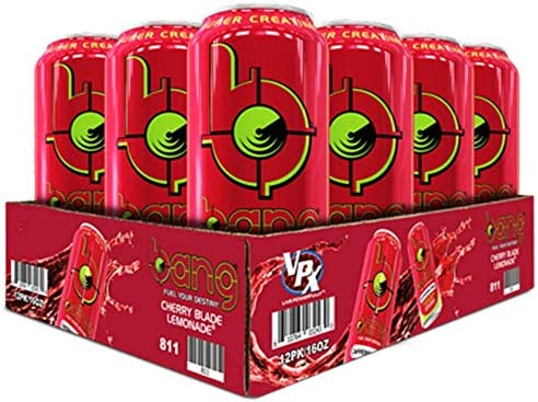 VPX Bang Caffeine Free Cherry Blade Lemonade 12 per Case – 16 fl oz 1 PT 473 ml