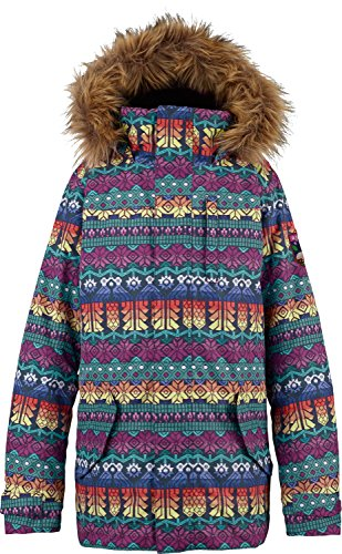Burton Youth Girls Aubrey Parka Jacket, Figaro Stripe, X-Large ()