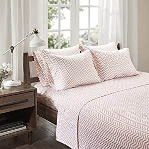 Cotton Jersey Sheets Set   Ultra Soft Full Bed Sheet With Deep Pocket    Blush Bedding