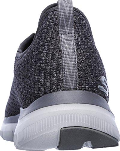 Skechers Flex Advantage 2.0-Cravy, Zapatillas de Entrenamiento para Hombre Gris (Charcoal)
