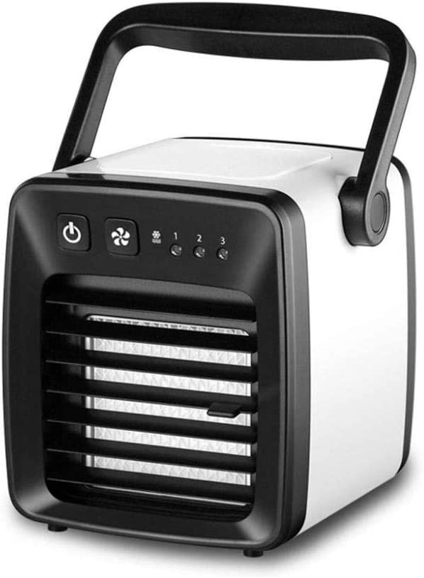 Small Air Conditioner Portable Conditioning Unit Air Cooler Portable Mini Air Conditioner Evaporative Coolers USB Desk Fan Humidifier for Home Bedroom Office Desktop Nightstand