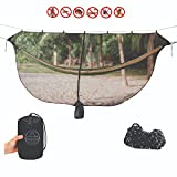 Evangelista Outfitters Mosquito net for Hammock, Portable Outdoor XL Bug Netting is Compatible with All Double or Single Camping hammocks | Dense mesh, Lightweight, Compact with 2 Straps and Bag