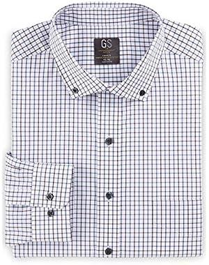 by DXL Big and Tall Check Dress Shirt