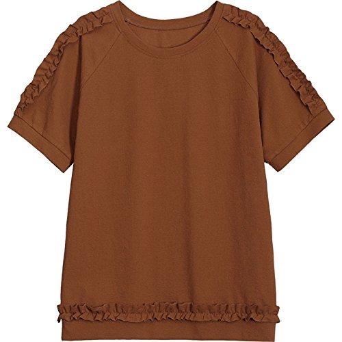 semplice corte sottile donna forti taglie estiva shirt T maniche caff da a MOMO allentata Maglietta cWTvaUwPR